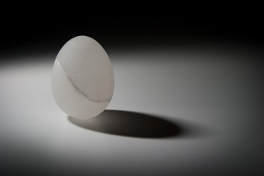 Eggs be broken by the smaller end